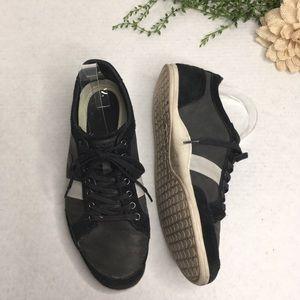 Lacoste Alisos Black Leather & Suede Sneaker 9